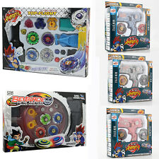 Fusion Top Metal Fight Masters Beyblade 4D Rapidity Launcher Grip Set Kids Toys
