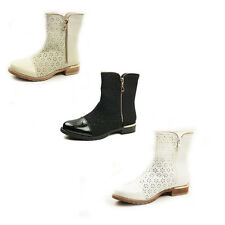 WOMENS LADIES CHELSEA STYLE ZIP DETAILS  LOW HEELS ANKLE BOOTS SHOES SIZE 3-8