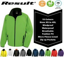Soft Shell Jacket Windproof Water Repellent Breathable + Thermal Inner Fleece