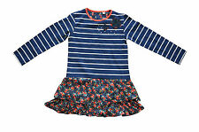 Girls Cute Cotton Blue Floral Print Full Sleeve Party Dress