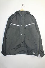 NICKELSON BYRON NMX410 MENS HOODED ZIP UP BLACK COAT JACKET