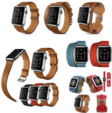 Leather Watch Band Strap Belt Bracelet Watchband For Watch 38/42mm 3 Style