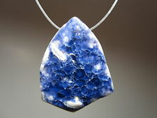 Fluorite Blue Purple Color Change Natural Crystal Gemstone Focal Bead Pendant