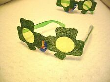 ST. PATRICK'S DAY IRISH SHAMROCK SUNGLASSES ~ GREEN SHAMROCK IRELAND KISS ME