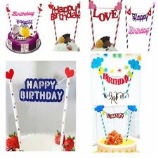Bandierine Stile Happy Birthday Decorazione Topper Per Torta for