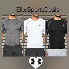***50% SALE*** RRP £25 Mens Under Armour HeatGear SS Compression Baselayer Top