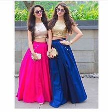 Bollywood Inspired : Party Wear Silk Crop Top & Skirt - VS066