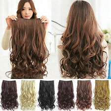 HEAT RESISTANT Osking Clip in 24 Inch Synthetic Hair Extensions #4 Black/Brown
