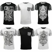 Skull Gothic Tee Shirt by Brave Soul Mens