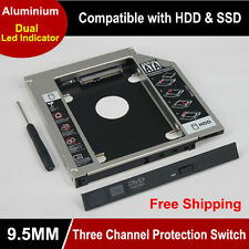 Universal 2.5 2Nd 9.5Mm Ssd Hd Sata Hard Disk Drive Hdd Caddy Adapter Bay For Cd
