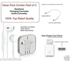 Lightning to 3.5 mm Aux/Earphone/Micro USB/Converter/Cable/Jack for iPhone 7,7+