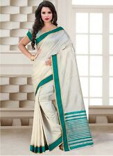 Wama Trendy CottonTussar silk party wear indian ethnic bollywood replica saree