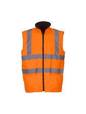 Hi-vis reversible fleece bodywarmer (YK041)