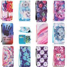Wallet Purse Case Cover for Apple iPhone 5 5S SE 6 6S 6 Plus New 7 8 Card Slots