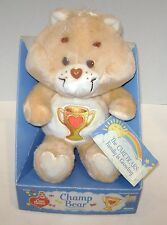 VINTAGE CARE BEARS CHAMP BEAR IN ORIGINAL BOX KENNER 1985
