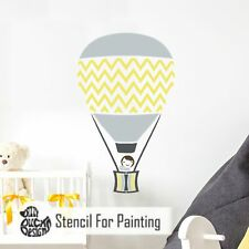 Furniture Wall Craft Stencil - CHEVRON HOT AIR BALLOON Nursery Boys Bedroom