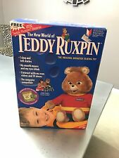 NIB 1998 TEDDY RUXPIN ANIMATED TALKING TOY BEANIE & KAY BEE BONUS PACK