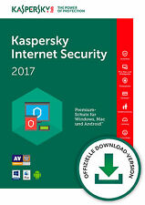 Kaspersky Internet Security 2017 | Deutsch | ESD Download [PC|Mac|Android]