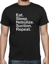 Respiratory Therapist Gift Eat Sleep Nebulize Suction Repeat T-Shirt Nurse Gift