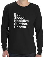 Respiratory Therapist Gift Eat Sleep Nebulize Suction Repeat Long Sleeve T-Shirt
