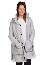Ladies Trench Coat Belted Jacket Plain Top Quality Fashion outwear Grey Red 8-16