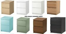 IKEA MALM Chest Of 2 Drawers,Bedside Table W40 X D48 X H55 cm 8 Various Colours