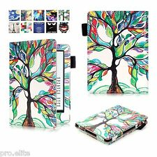 "Designer Book Case Cover For Amazon Kindle E Reader 6"" 8th Generation 2016 Tree"