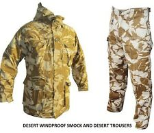 British Army - 2 Pack - DESERT WINDPROOF SMOCK + DESERT TROUSERS - Grade One