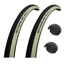"""27"""" x 1-1/4"""" SCHWALBE Active WHITE WALL Puncture Resistant Roadster Bike Tyre"""