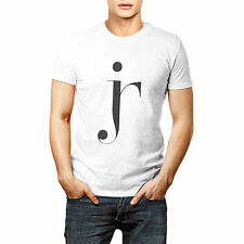 Designer JR Letters Printed T shirt Sports Wear White Round Neck