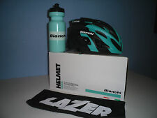 BIANCHI 2016 SPHERE HELMET by LAZER and FREE BIANCHI BOTTLE