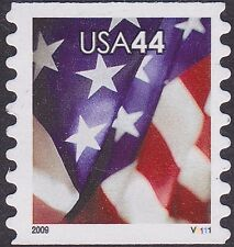 US - 2009 - 44 Cents US Flag Self-Adhesive Coil #4394 Plate Single Plate # V1111