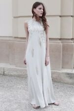 H&M Conscious Collection Mulberry Silk Beaded Grecian Wedding Dress UK 10 12 14