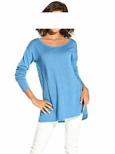 Travel Couture by Heine Pullover m. Satin, blau-weiß Gr 36 bis 44 UVP: € 59.90