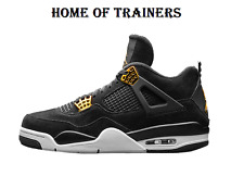 Nike Air Jordan 4 Retro ROYALTY Oro Negro Zapatillas blancas Todas Las Tallas