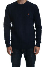 Farah Kirtley Cable Crew Neck Jumper in True Navy SALE RRP £70