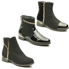 WOMENS LADIES CHELSEA STYLE LOW MID HIGH HEEL ANKLE BOOTS BOOTEIS SHOES SIZE 3-8