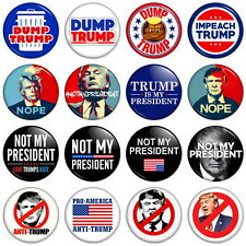 "DONALD TRUMP PROTEST 25mm 1"" Pin Badge ANTI-TRUMP DEMONSTRATION TRUMP OUT"