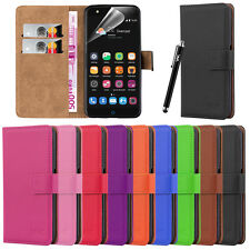 ZTE BLADE V7 LITE Flip Wallet Leather Book Card Slot Case Cover Pouch & Stylus
