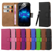 ZTE BLADE A110 CASE Flip Wallet Leather Book Card Slot Case Cover Pouch & Stylus