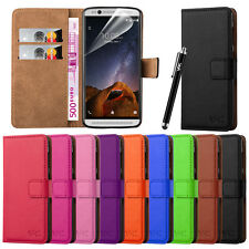ZTE AXON 7 MINI Flip Wallet Leather Book Card Slot Case Cover Pouch & Stylus