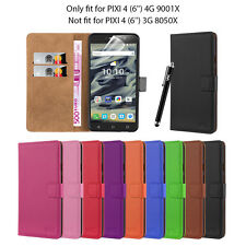 Alcatel Pixi 4 (6'') 4G 9001X Flip Wallet Leather Book Card Slot Case Cover