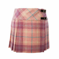 Heritage Of Scotland Ladies 100% Wool Tweed Scottish Tartan Billie Kilt