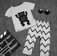Baby Boys cute logo Top Bottoms 2 piece Outfit. Set. Casual. Smart. Party.Gift