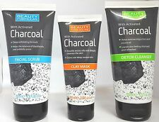 BEAUTY FORMULAS WITH CHARCOAL FACE SCRUB / DETOX CLEANSER & FACE MASK**UK **