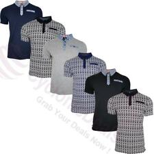 uomo di marca Polo t-shirt elegante casual maglietta top corto maniche colletto