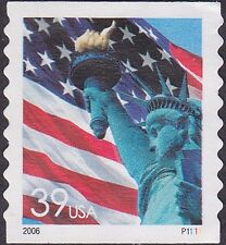US - 2006 - 39 Cents Statue of Liberty Coil #3981 Plate # Single Plate #P1111