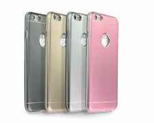 Thin Aluminium Alloy Metal TUP Gel Case Back Cover For iPhone 5 5S SE 6 6Plus UK