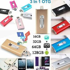 32 64 128 256GB OTG Device i Flash Drive USB Memory Stick for iPhone IOS Android
