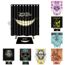 150×180 3D Funny Pattern Waterproof Polyester Shower Curtain Set Bathroom Mat